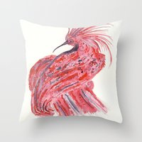 phoenix Throw Pillows featuring phoenix by echoes