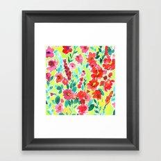 Isla Floral Yellow Framed Art Print