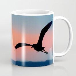 Seagull Sunset Abstract Coffee Mug