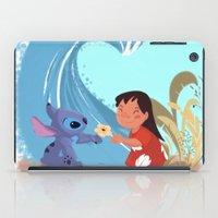 lilo and stitch iPad Cases featuring Lilo & Stitch by Orelly