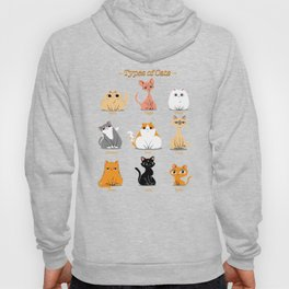 Types of Cats Hoody