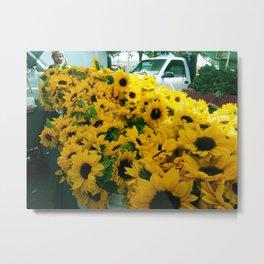 Farmer's Market Flowers Metal Print