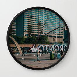 Nathan Phillips square late evening Rollin on Wall Clock