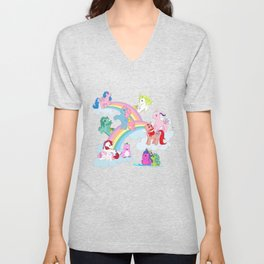 g1 my little pony early characters group Unisex V-Neck