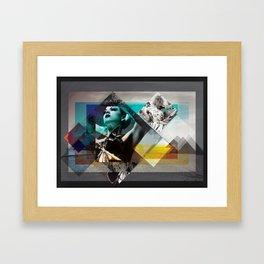 White sand Framed Art Print