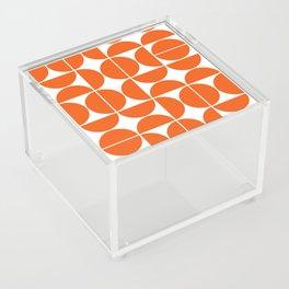 Mid Century Modern Geometric 04 Orange Acrylic Box