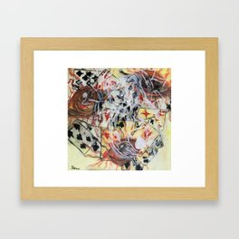In the cards Framed Art Print