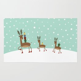 Christmas gifts from the reindeer #society6 #homedecor Rug