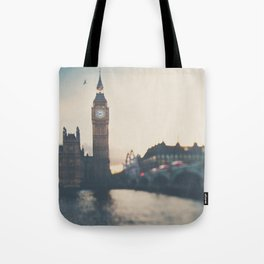 sunset over the city ... Tote Bag