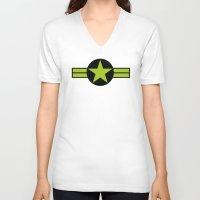 top gun V-neck T-shirts featuring Top Gun by FilmsQuiz