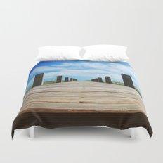 Baldhead island  Duvet Cover