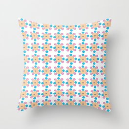 Circle and abstraction 9- blue abstract,geometric,geometrical,circle,sphere Throw Pillow