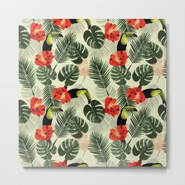 Tropic pattern 002 Metal Print
