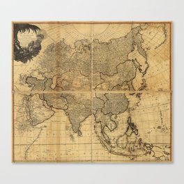 Map of Asia and it's Islands according to D'Anville (1799) Canvas Print