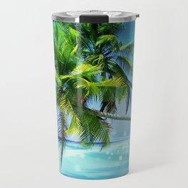 Parrot in the beach Travel Mug
