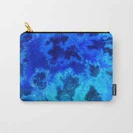 Abstract Blue Ocean Aerial Carry-All Pouch