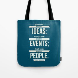 Lab No. 4 - Eleanor Roosevelt Typography Print art Inspirational Quote Poster Tote Bag