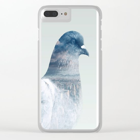 The world is my bathroom Clear iPhone Case