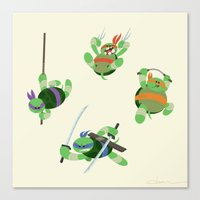 tmnt Canvas Prints featuring TMNT by Dean Heezen Art