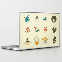 weird Laptop & iPad Skins featuring Weird balls with weird hats by AGRIMONY // Aaron Thong