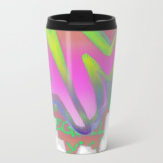 To Be Or Not To Be In Pink Metal Travel Mug