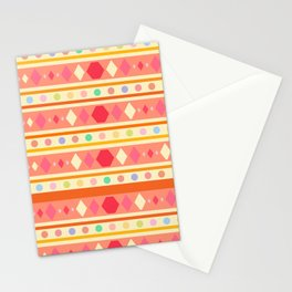 Happy Tribal Pattern Stationery Cards