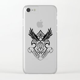 Tower Guard Shield (Black) Clear iPhone Case