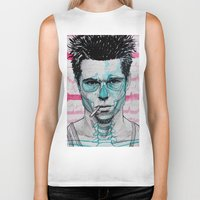tyler durden Biker Tanks featuring Tyler Durden by Bronsolo Illustration