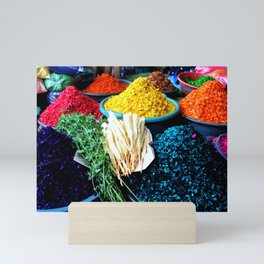 Dyed Sawdust in a Guatemalan Market Mini Art Print