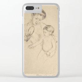 Mary Stevenson Cassatt (1844–1926), Margot Leaning Against Her Mother Clear iPhone Case