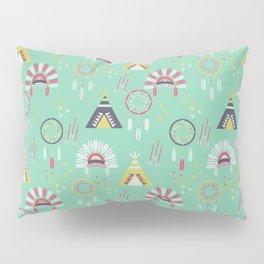 Indian Pattern Mint Pillow Sham