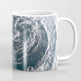 Hurricane on Earth viewed from space. Typhoon over planet Earth. Coffee Mug