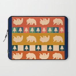 Multicolored bear pattern Laptop Sleeve