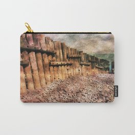 Sea Defence Groynes - watercolour effect. Carry-All Pouch