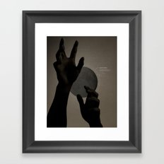 Hand's on the Moon Framed Art Print