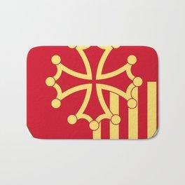 Languedoc-Roussillon symbol shield Bath Mat
