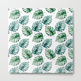 Tropical Foliage Monstera Pattern on #Society6 Metal Print