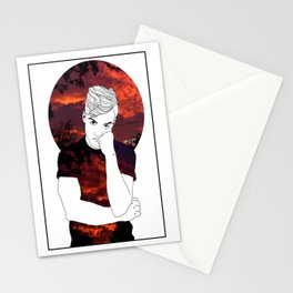 Pink skies Grayson Dolan Stationery Cards