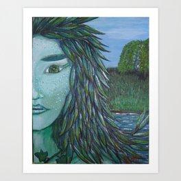green ode Art Print