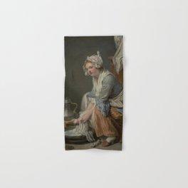 The Laundress by Jean-Baptiste Greuze Hand & Bath Towel