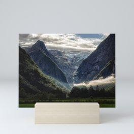 Mountains and Glaciers - Norway Mini Art Print