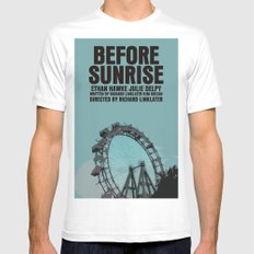 Before Sunrise Movie Poster White MEDIUM Mens Fitted Tee