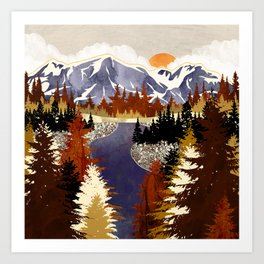 Autumn River Art Print