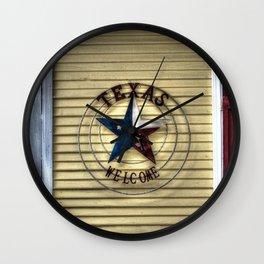 Texas Welcome Wall Clock