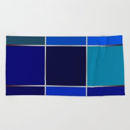 Cobalt , patchwork Beach Towel