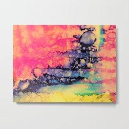 Vivid Pink Color Run Metal Print