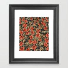 Vintage Garden 8 (Midnight Vines) Framed Art Print