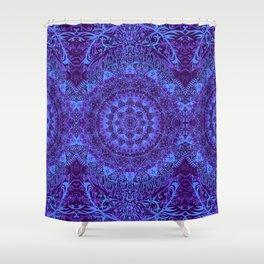 Indigo Mandala Shower Curtain