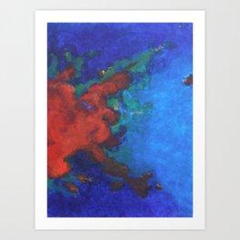 Splattered Peacock (1) Art Print