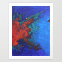 Splattered Peacock (1) Art Print